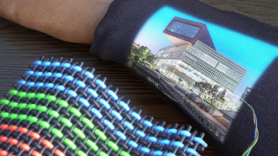 KAIST, 디스플레이 구동 가능한 OLED 전자 섬유 개발