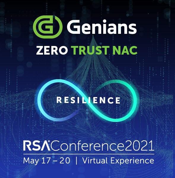 지니언스가 RSAC 2021에 참가해 차세대 보안 모델 제로트러스트 NAC를 선보인다. 지니언스 제공