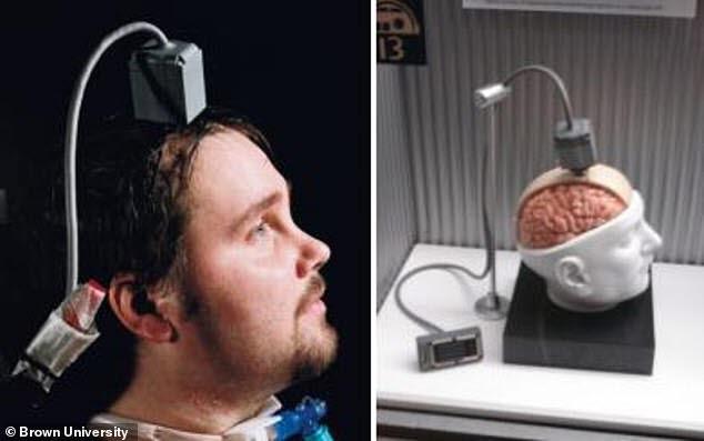 휴대용 BCI 장치는 인간의 한계를 뛰어넘게 하는 혁신적 장치이다. (출처: 브라운대학교)
