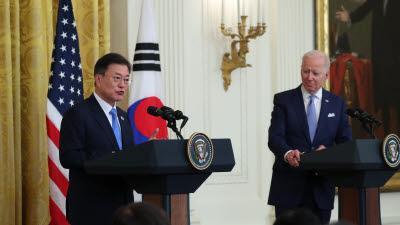한미정상, 공동성명 발표...'기후·보건·통신·반도체 협력 강화' 합의