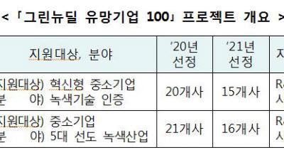 중앙강재, 아코플레닝 등 '그린뉴딜 유망기업' 31곳 선정