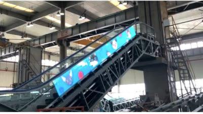 창성시트, 日 후지테크 에스컬레이터에 필름형 투명 LED 디스플레이 공급
