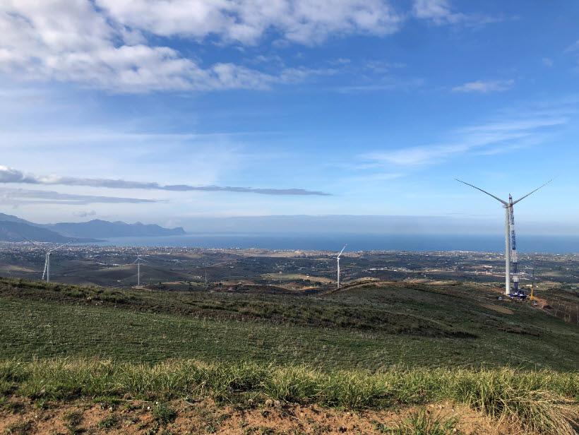 중국 골드윈드가 이탈리아에 구축한 풍력발전기 <자료 골드윈드 홈페이지>