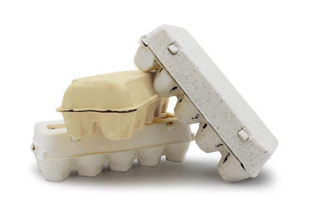 마린이노베이션이 해조류 부산물로 만든 계란판. 기존 제품에 비해 가격이 저렴하고 완충효과가 뛰어나 상품을 보다 안전하게 운반할 수 있다. <출처:마린이노베이션>