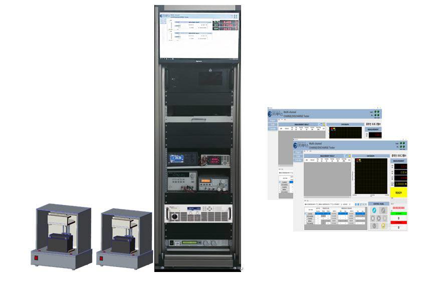 제이스의 다채널 배터리 충방전 검사시스템
