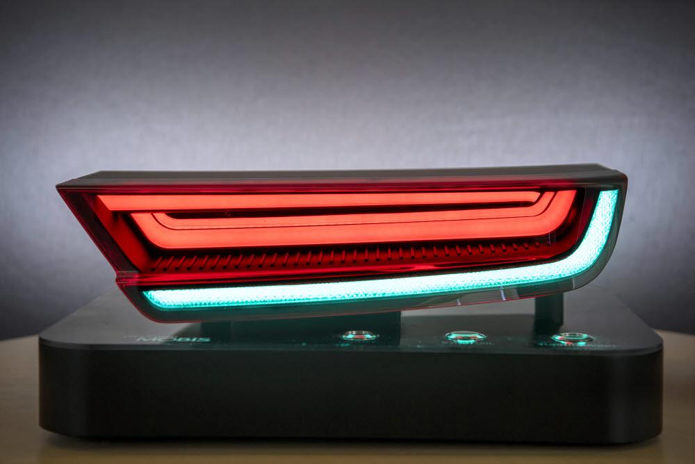 현대모비스가 개발한 HLED 리어램프.