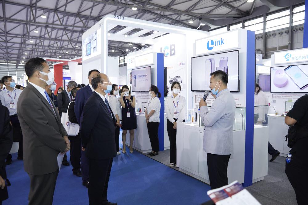 중국 상하이에서 열린 CTIS 전시회 한국관 전경