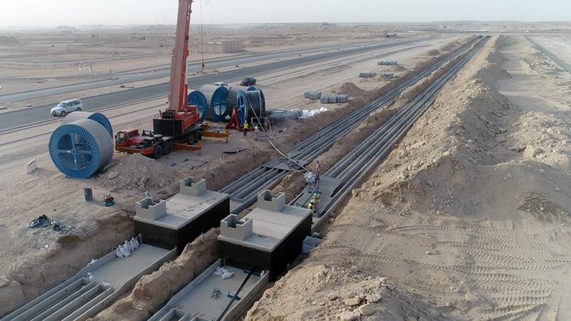 대한전선 쿠웨이트 전력망 구축 현장<사진=대한전선>
