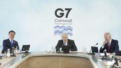 {htmlspecialchars(문 대통령, G7 정상과 어깨 나란히...글로벌 현안서 한국 역할론 강조)}
