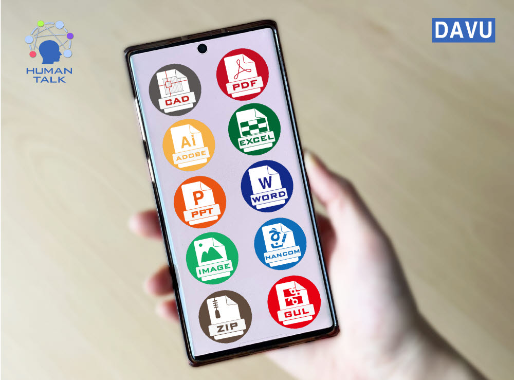 휴먼토크의 다뷰 모바일은 다양한 포맷의 문서·이미지 파일을 해당 응용프로그램 없이 컴퓨터에서 열어볼 수 있다.
