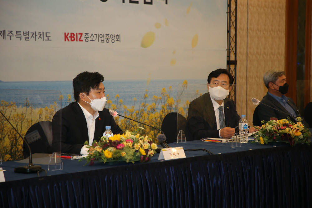 김기문 회장, 원희룡 도지사 만나 중기 정책과제 논의