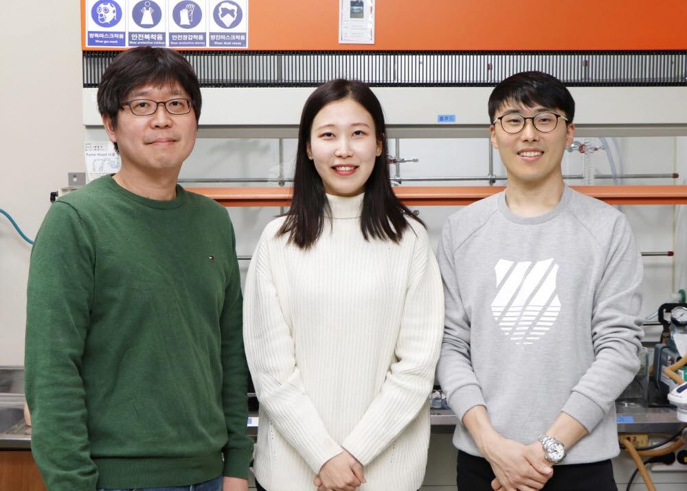 포스텍 연구팀(왼쪽부터 노준석 교수, 김민경 씨, 이다솔 씨)