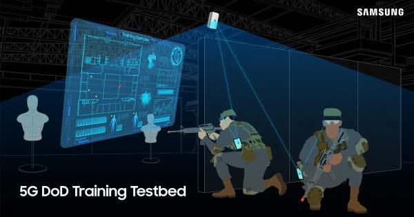 삼성전자가 구축하는 미 국방부 5G 트레이닝 테스트베드 개념도.