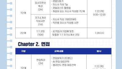 조선대 대학일자리센터, 22일부터 '내일(JOB)컨설팅' 프로그램 실시