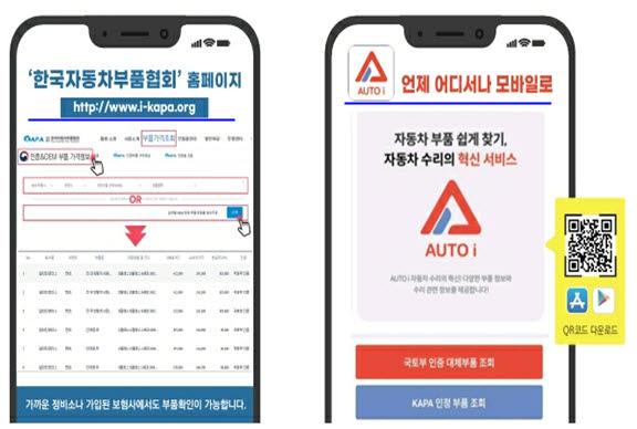 자동차 부품 통합검색 시스템 오토아이. 사진출처=한국자동차부품협회