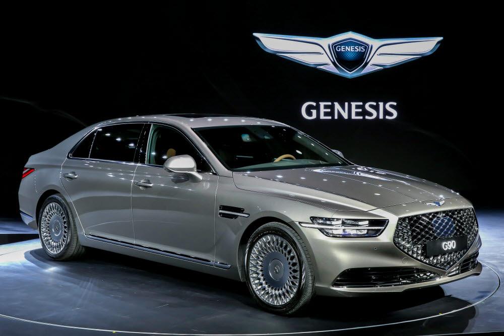 제네시스 G90. 올 연말 완전변경 모델 출시를 앞뒀다.