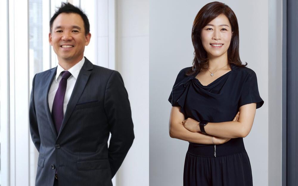 김정주 넥슨 창업주(왼쪽)와 이재교 엔엑스씨(NXC) 신임 대표