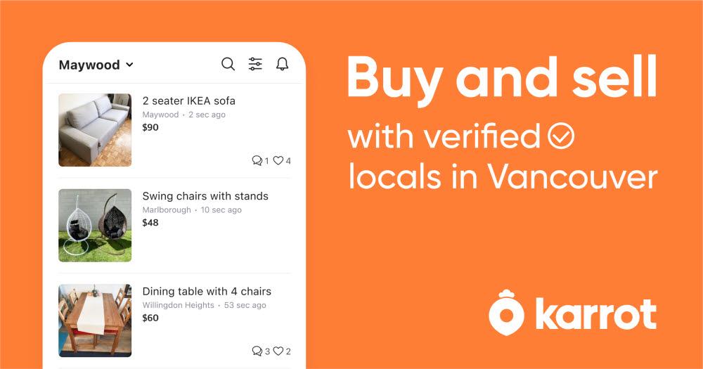 당근마켓이 글로벌 버전 앱 KARROT(캐롯)을 출시, 캐나다를 중심으로 해외에서 가입자가 급증하고 있다.