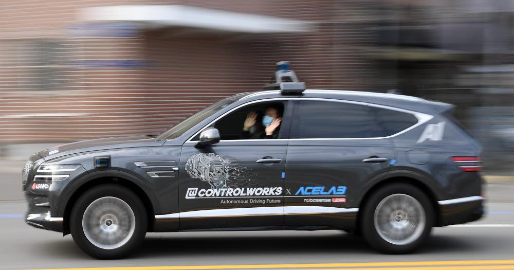 자율주행 테스트 차량.