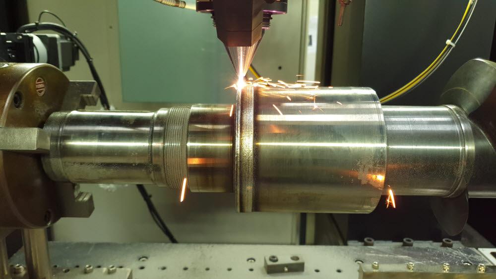 생기원 3D프린팅 기술로보수중인 함정 감속기 주축 부품