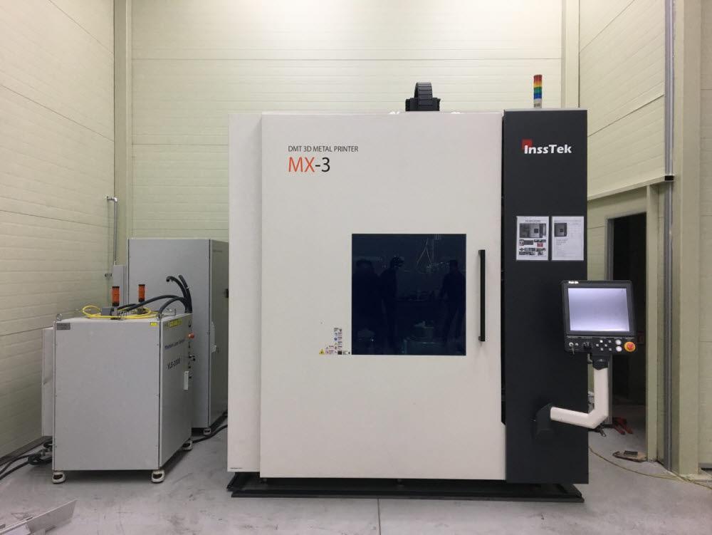 부품 보수에 활용된 DED 공정 기반 3D프린팅 장비