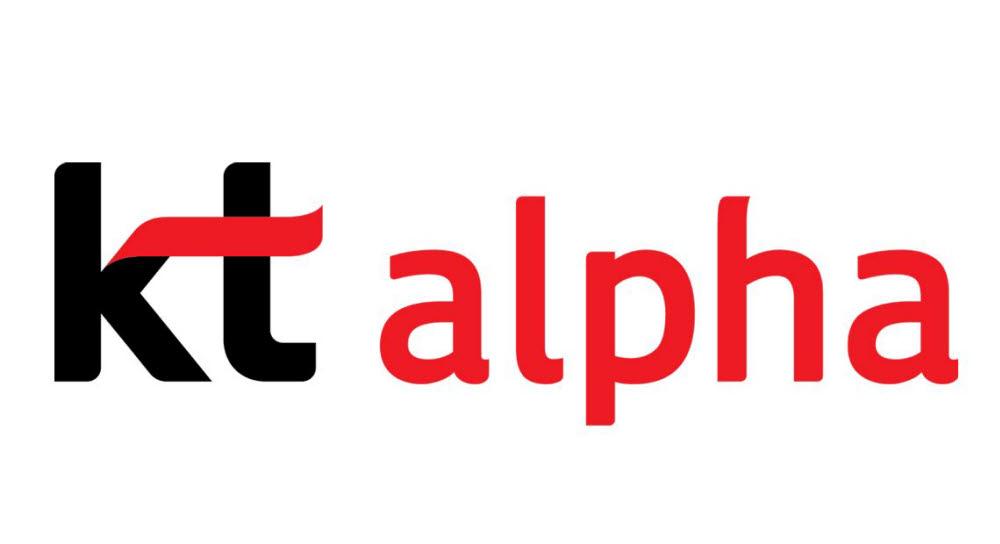 kt alpha 로고