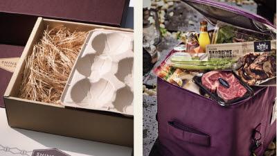 신세계百, 추석 신선식품 '업사이클링 보냉백'에 담는다