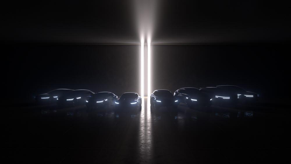 제네시스가 선보일 8종의 전기차 라인업.