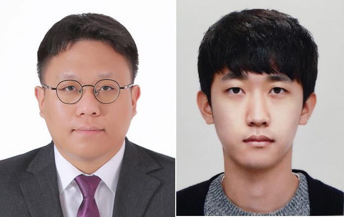IMID 2021에서 수상한 김인기 박사(왼쪽)와 김경태 씨