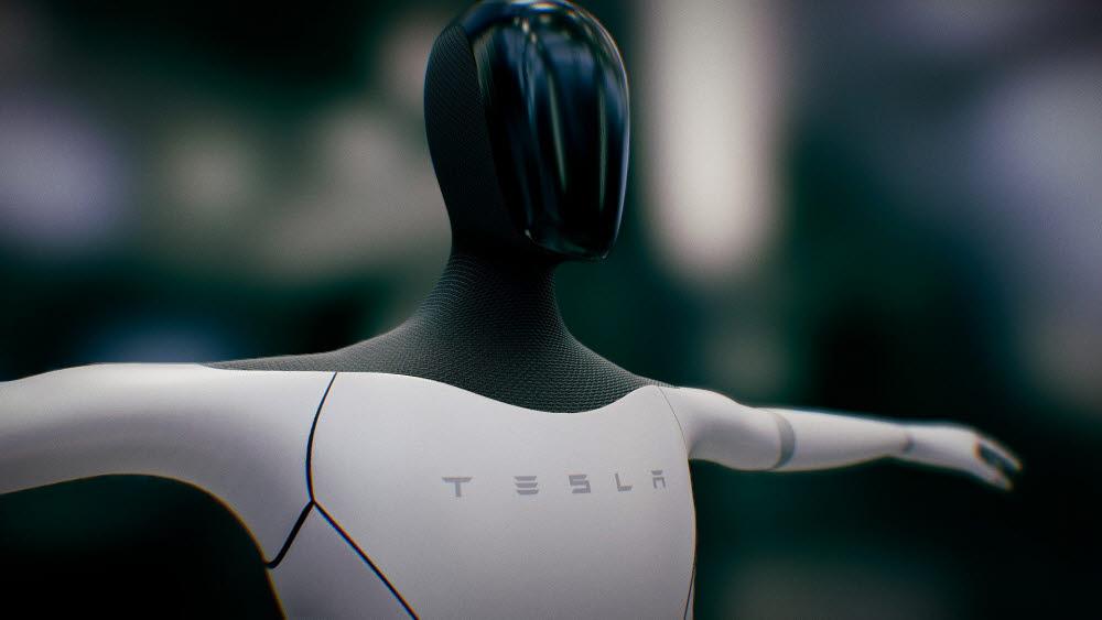 테슬라가 선보인 인간형 로봇 테슬라봇. <테슬라 제공>