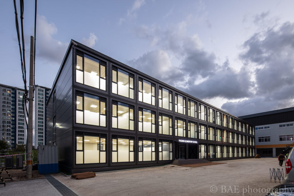 엔알비(NRB) 이동형 모듈러 교실 모습