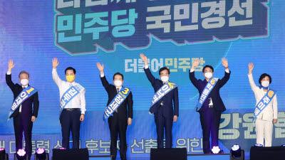 이재명 파죽지세 1차 슈퍼위크 승리, 민주당 텃밭 호남 승부 관건