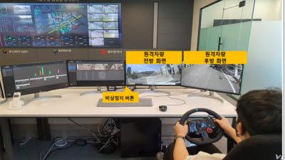 생기원, 광주에 국내 최초 원격제어기반 무인 자율주행차량 통합관제센터 구축