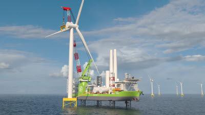 두산중공업, 해상풍력발전기 설치용 선박 기자재 공급
