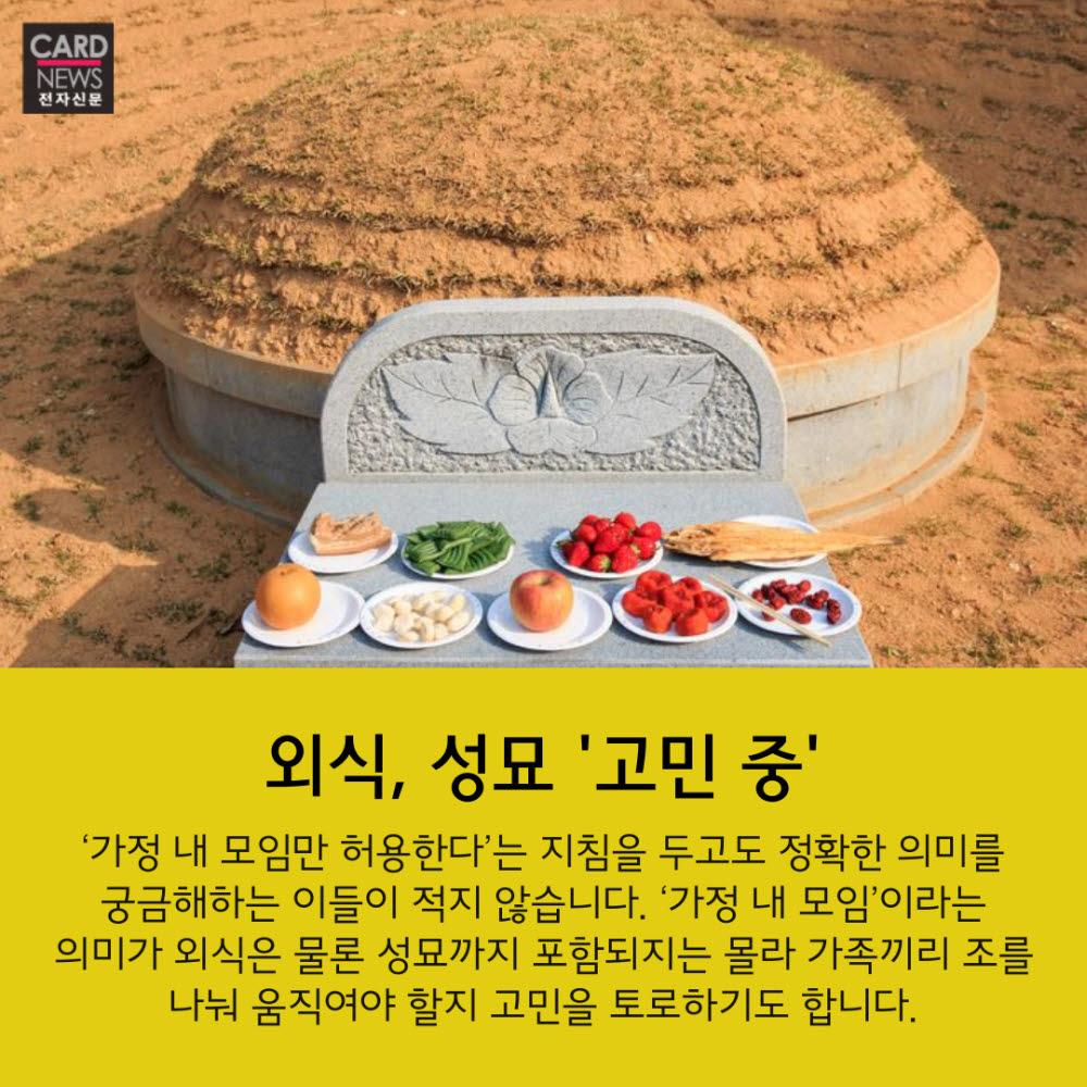 """[카드뉴스]추석모임 몇명까지? """"아리송해"""""""