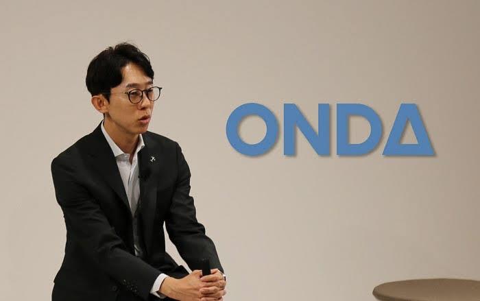 오현석 온다 대표가 구글호텔과 16일 공동 개최한 웨비나에서 발표하고 있다.