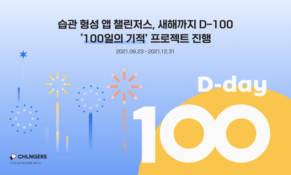 습관형성 앱 '챌린저스', '100일의 기적' 프로젝트 진행