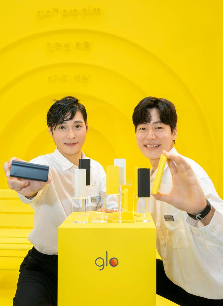 BAT로스만스가 17일 여의도 IFC몰에 궐련형 전자담배 신제품 글로 프로 슬림의 팝업스토어를 열고 제품 출시에 앞서 사전 홍보에 돌입한다.
