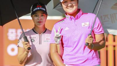 [포토]김리안-유해란, 귀엽게 인사해요