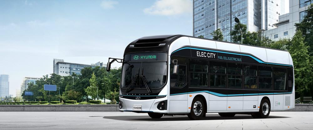 현대자동차 수소전기버스 일렉시티 FCEV. 한국자동차연구원은 일렉시티 FCEV를 기반으로 자율주행 수소전기버스를 개발했다.