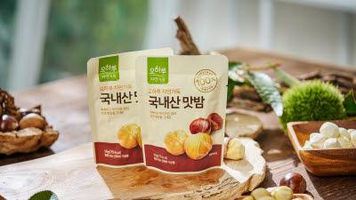 [추천이상품]CJ온스타일, 건강 원물 간식 인기....'오하루 자연가득' 맛밤 출시
