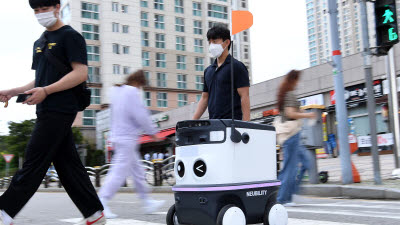 '자율주행 로봇' 음식 배달