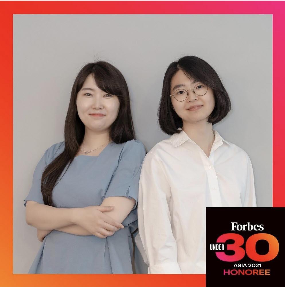 (왼쪽부터) 부혜은 개발이사·김도진 대표 등 해피문데이 창업자들의 모습. (사진=해피문데이 공식 인스타그램 발췌)
