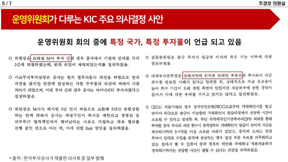 [2021국정감사]한국투자공사 민간운영위원들, 회의 안 하고 月250만원씩 챙겨