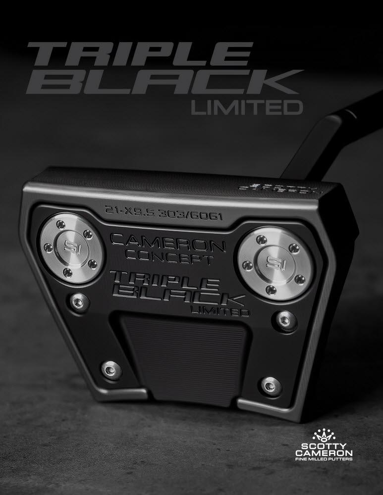 스카티 카메론 한정판 퍼터 팬텀 X 9.5트리플 블랙.