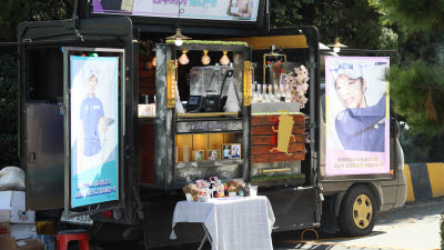 '메이저 퀸' 김수지, 커피트럭 대동해 '우승 턱'