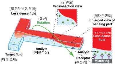 KAIST, 현장 진단용 초고감도 바이오센서 개발...미세 유체 회전운동 활용
