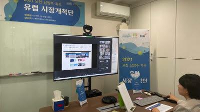 경과원, 포천·남양주·파주시 中企 12개사 '유럽 시장개척단' 화상상담 개최
